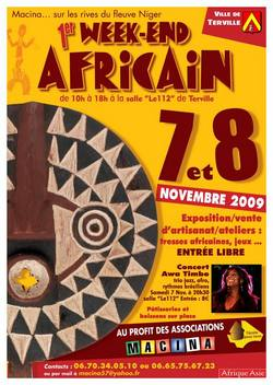 Affiche Week end Africain